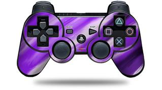 Sony PS3 Controller Decal Style Skin - Paint Blend Purple (CONTROLLER NOT INCLUDED)