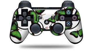 Sony PS3 Controller Decal Style Skin - Butterflies Green (CONTROLLER NOT INCLUDED)