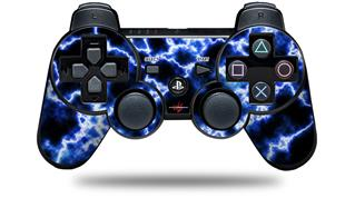 Sony PS3 Controller Decal Style Skin - Electrify Blue (CONTROLLER NOT INCLUDED)
