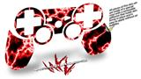 Sony PS3 Controller Decal Style Skin - Electrify Red (CONTROLLER NOT INCLUDED)