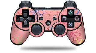 Sony PS3 Controller Decal Style Skin - Kearas Flowers on Pink (CONTROLLER NOT INCLUDED)