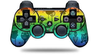 Sony PS3 Controller Decal Style Skin - Cute Rainbow Monsters (CONTROLLER NOT INCLUDED)