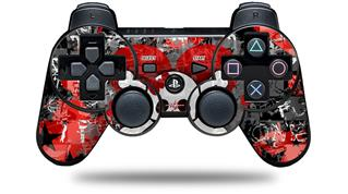 Sony PS3 Controller Decal Style Skin - Emo Skull Bones (CONTROLLER NOT INCLUDED)