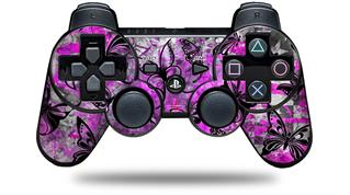 Sony PS3 Controller Decal Style Skin - Butterfly Graffiti (CONTROLLER NOT INCLUDED)