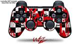 Sony PS3 Controller Decal Style Skin - Checkerboard Splatter (CONTROLLER NOT INCLUDED)