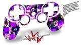 Sony PS3 Controller Decal Style Skin - Purple Graffiti (CONTROLLER NOT INCLUDED)
