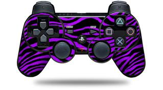 Sony PS3 Controller Decal Style Skin - Purple Zebra (CONTROLLER NOT INCLUDED)