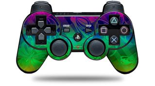 Sony PS3 Controller Decal Style Skin - Rainbow Butterflies (CONTROLLER NOT INCLUDED)