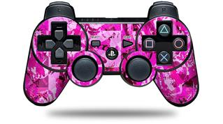 Sony PS3 Controller Decal Style Skin - Pink Plaid Graffiti (CONTROLLER NOT INCLUDED)