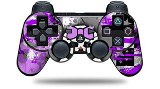 Sony PS3 Controller Decal Style Skin - Purple Princess Skull (CONTROLLER NOT INCLUDED)