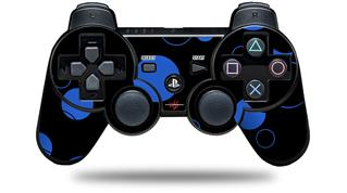 Sony PS3 Controller Decal Style Skin - Lots of Dots Blue on Black (CONTROLLER NOT INCLUDED)