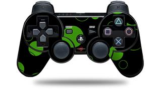 Sony PS3 Controller Decal Style Skin - Lots of Dots Green on Black (CONTROLLER NOT INCLUDED)