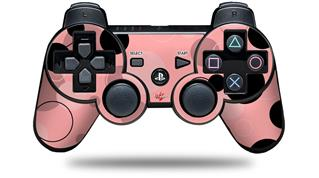 Sony PS3 Controller Decal Style Skin - Lots of Dots Pink on Pink (CONTROLLER NOT INCLUDED)