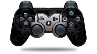 Sony PS3 Controller Decal Style Skin - Glass Heart Grunge Gray (CONTROLLER NOT INCLUDED)