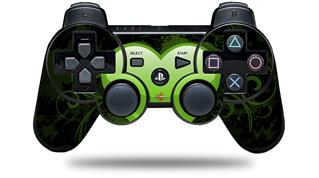Sony PS3 Controller Decal Style Skin - Glass Heart Grunge Green (CONTROLLER NOT INCLUDED)