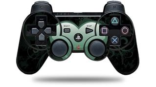 Sony PS3 Controller Decal Style Skin - Glass Heart Grunge Seafoam Green (CONTROLLER NOT INCLUDED)