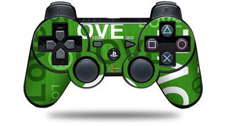 Sony PS3 Controller Decal Style Skin - Love and Peace Green (CONTROLLER NOT INCLUDED)