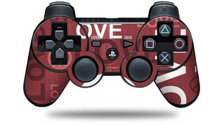 Sony PS3 Controller Decal Style Skin - Love and Peace Pink (CONTROLLER NOT INCLUDED)