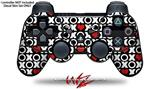 Sony PS3 Controller Decal Style Skin - XO Hearts (CONTROLLER NOT INCLUDED)