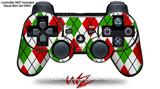 Sony PS3 Controller Decal Style Skin - Argyle Red and Green (CONTROLLER NOT INCLUDED)
