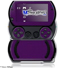Carbon Fiber Purple - Decal Style Skins (fits Sony PSPgo)