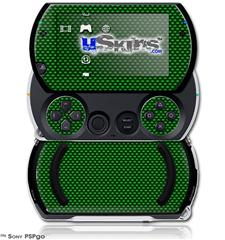 Carbon Fiber Green - Decal Style Skins (fits Sony PSPgo)