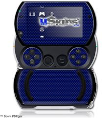 Carbon Fiber Blue - Decal Style Skins (fits Sony PSPgo)