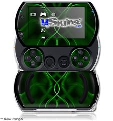 Abstract 01 Green - Decal Style Skins (fits Sony PSPgo)