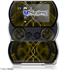Abstract 01 Yellow - Decal Style Skins (fits Sony PSPgo)
