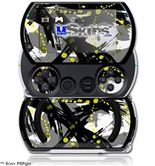 Abstract 02 Yellow - Decal Style Skins (fits Sony PSPgo)