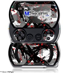 Abstract 02 Red - Decal Style Skins (fits Sony PSPgo)