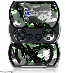 Abstract 02 Green - Decal Style Skins (fits Sony PSPgo)