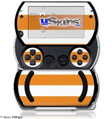 Psycho Stripes Orange and White - Decal Style Skins (fits Sony PSPgo)