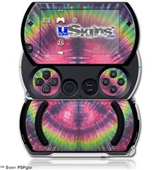 Tie Dye Peace Sign 103 - Decal Style Skins (fits Sony PSPgo)