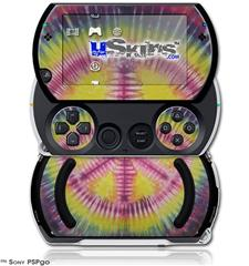 Tie Dye Peace Sign 104 - Decal Style Skins (fits Sony PSPgo)