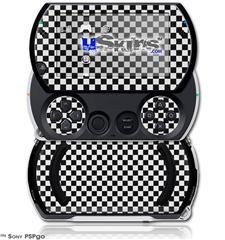 Checkered Canvas Black and White - Decal Style Skins (fits Sony PSPgo)