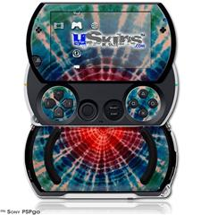Tie Dye Bulls Eye 100 - Decal Style Skins (fits Sony PSPgo)