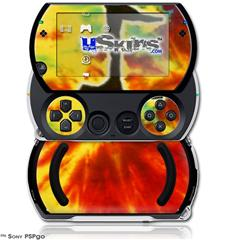 Tie Dye Music Note 100 - Decal Style Skins (fits Sony PSPgo)