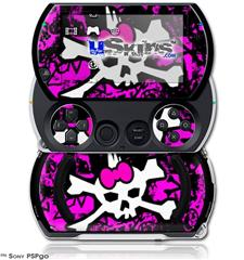 Punk Skull Princess - Decal Style Skins (fits Sony PSPgo)
