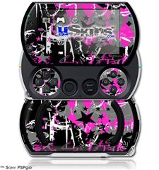 SceneKid Pink - Decal Style Skins (fits Sony PSPgo)