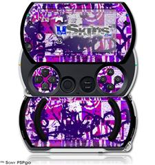 Purple Checker Graffiti - Decal Style Skins (fits Sony PSPgo)
