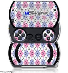 Argyle Pink and Blue - Decal Style Skins (fits Sony PSPgo)