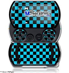 Checkers Blue - Decal Style Skins (fits Sony PSPgo)