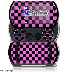 Checkers Pink - Decal Style Skins (fits Sony PSPgo)