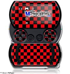Checkers Red - Decal Style Skins (fits Sony PSPgo)