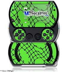 Ripped Fishnets Green - Decal Style Skins (fits Sony PSPgo)