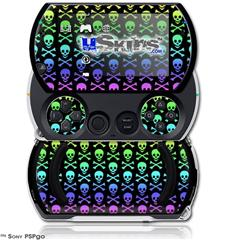 Skull and Crossbones Rainbow - Decal Style Skins (fits Sony PSPgo)