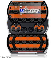 Skull Stripes Orange - Decal Style Skins (fits Sony PSPgo)