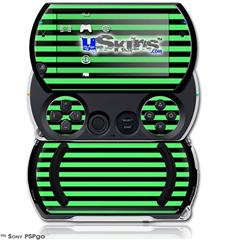 Stripes Green - Decal Style Skins (fits Sony PSPgo)