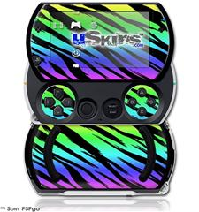 Tiger Rainbow - Decal Style Skins (fits Sony PSPgo)
